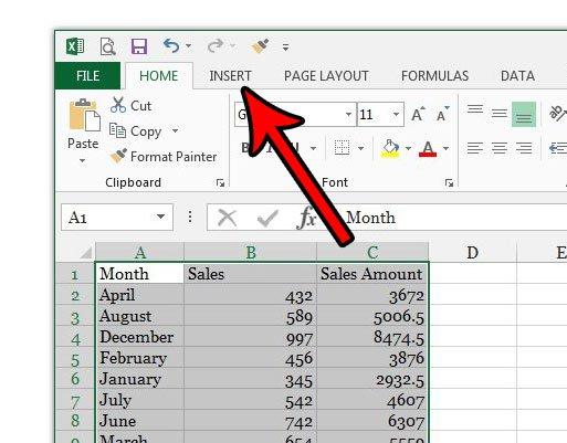 имена столбцов Excel