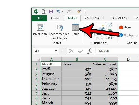 создать таблицу в Excel