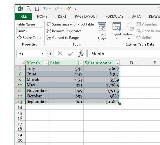 как назвать столбцы в Excel