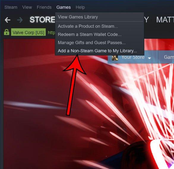 добавить не Steam игру в библиотеку