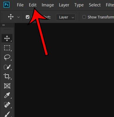 Как удалить инструмент с панели инструментов в Photoshop CC