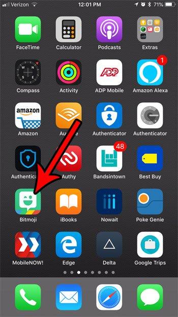 сделать новый битмоджи iphone