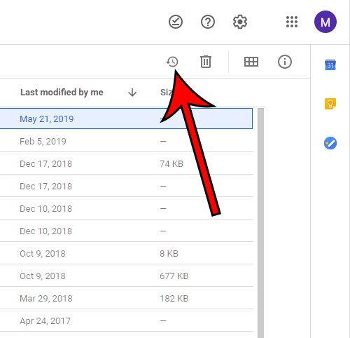 как восстановить файл из корзины в Google Drive
