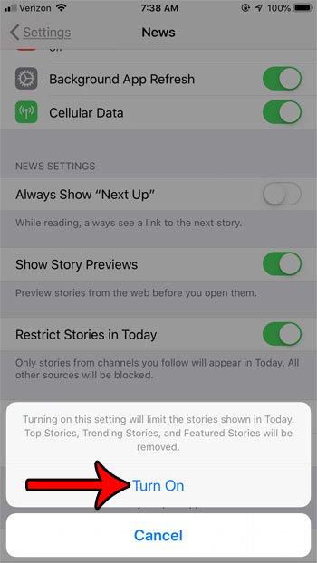 показывать только новости из следующих каналов за сегодня на новостях iphone