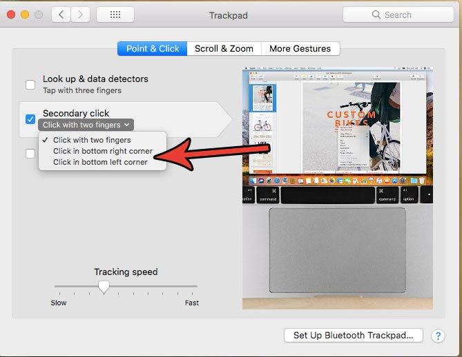 как щелкнуть правой кнопкой мыши на MacBook Air
