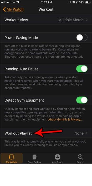 как установить тренировки плейлист яблочные часы