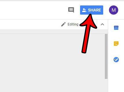 нажмите синюю кнопку поделиться