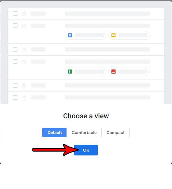 выбрать макет для нового Gmail
