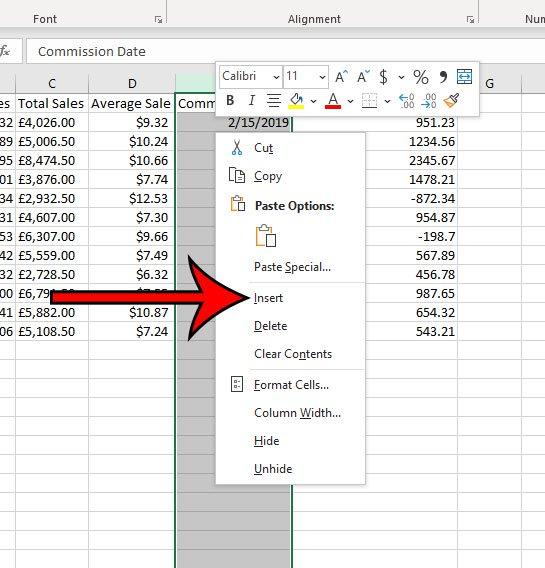 Как добавить столбец в Microsoft Excel для Office 365