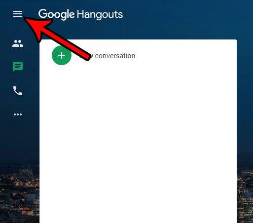 меню Google Hangouts