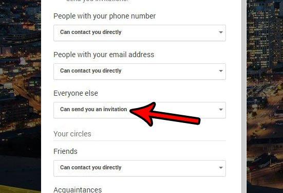 изменить настройки для незнакомых запросов в Google Hangouts