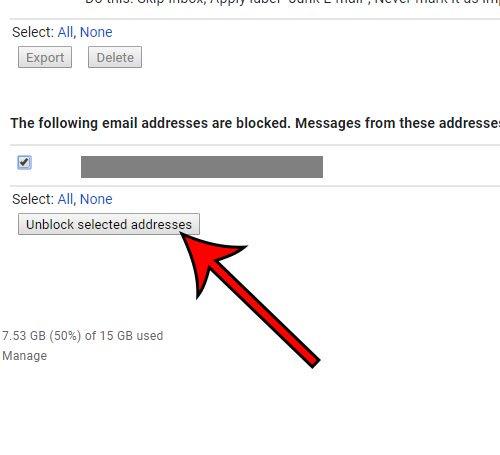 как разблокировать адрес электронной почты в Gmail