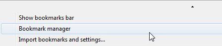 как сделать закладку в Google Chrome с помощью менеджера закладок