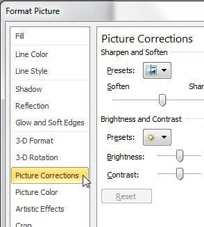 PowerPoint 2010 исправления изображения