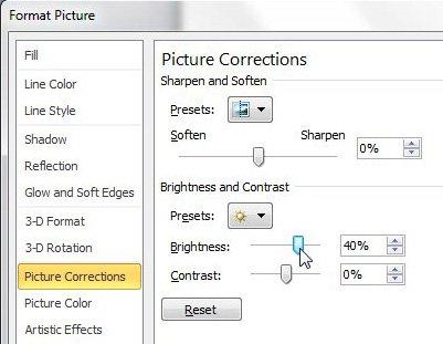 как сделать картинку ярче в powerpoint 2010