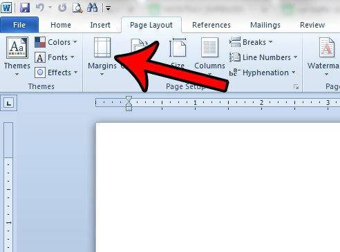 изменить поля страницы в текстовом документе