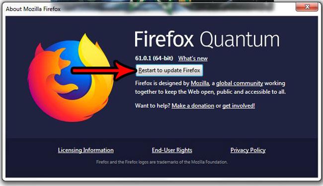 как проверить наличие обновлений в Firefox