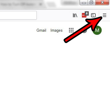 открыть меню в Firefox