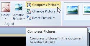 нажмите кнопку сжатия изображений