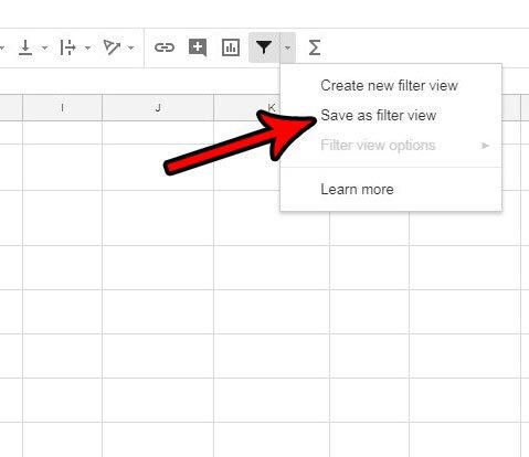 как сохранить вид фильтра в гугл листах