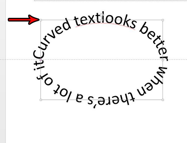 изогнутый текст в powerpoint