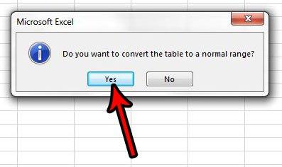 преобразовать таблицу Excel обратно в диапазон