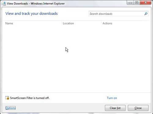 как открыть папку загрузки в Internet Explorer 9