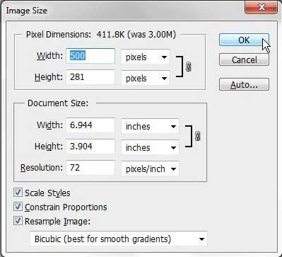 как уменьшить размер файла в формате JPEG в фотошопе