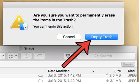 освободить место в MacBook Air, очистив мусор