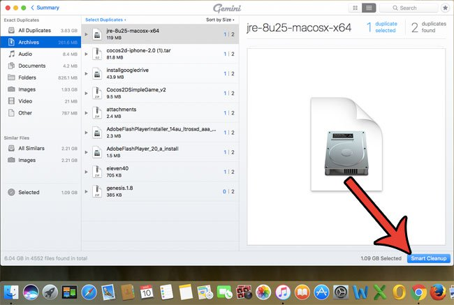 удаление дубликатов файлов Mac