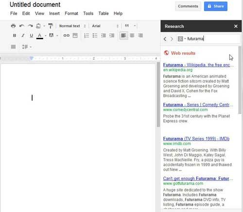 как искать в Google Docs
