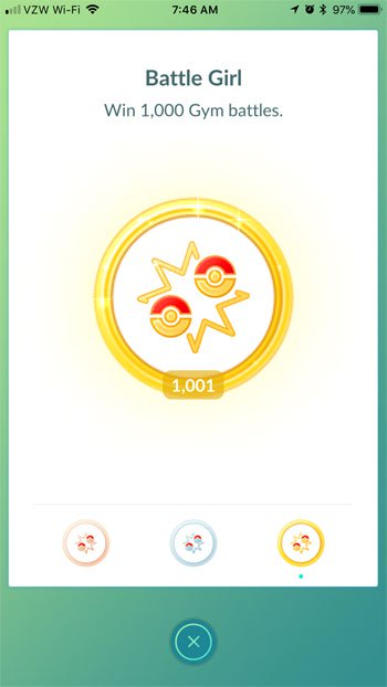 сколько битв я выиграл в Pokemon Go