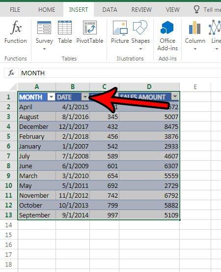 таблица сортировки по датам Excel онлайн
