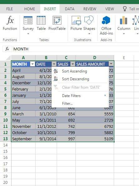 как отсортировать по дате в Excel онлайн
