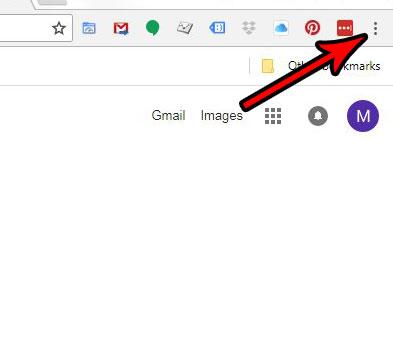 открыть меню Google Chrome