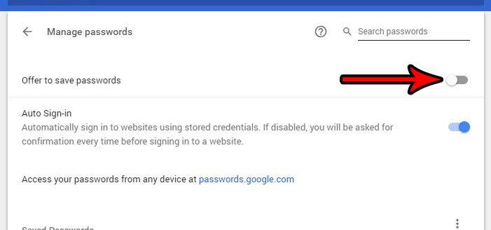 как перестать предлагать запомнить сохраненные пароли гугл хром