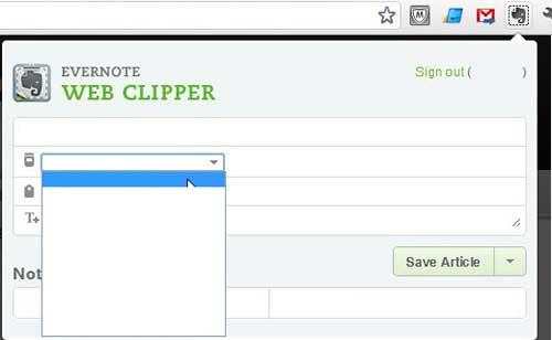 как использовать веб-клипер evernote в Google Chrome