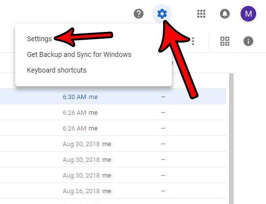 открыть настройки Google Drive