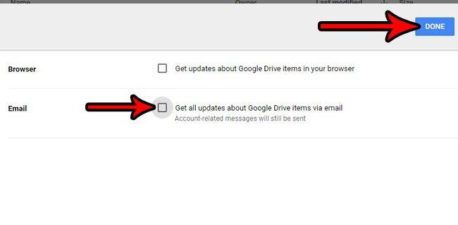 отключить все уведомления Google Drive