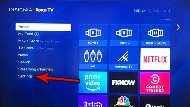 Как отключить щелчки меню на Roku TV