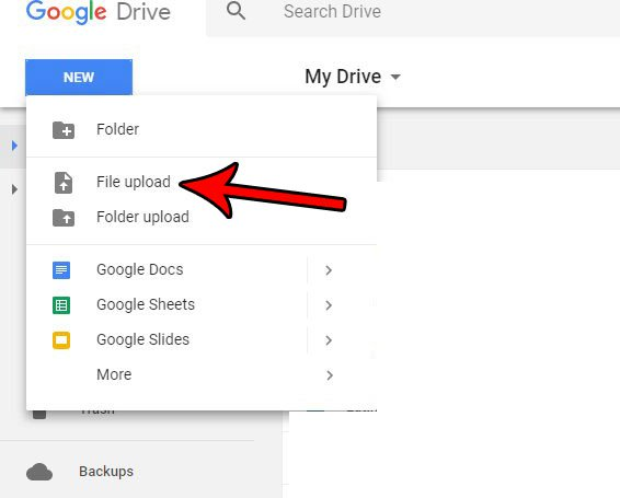 загрузка файлов на гугл диск