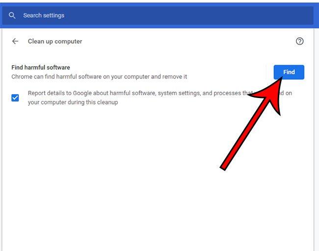 как использовать сканер вредоносных программ Google Chrome