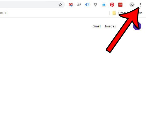 откройте меню Google Chrome