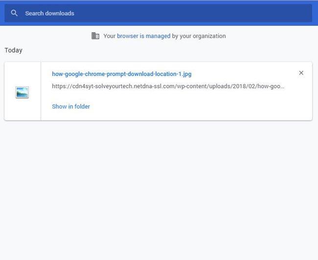как просмотреть последние загрузки в Google Chrome