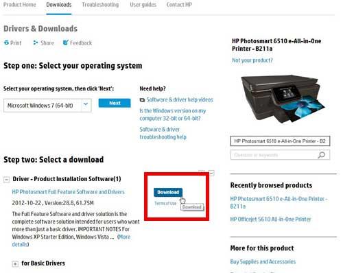 Как настроить HP Photosmart 6510 для беспроводной печати