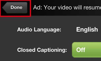 нажмите кнопку «Готово», чтобы вернуться к видео