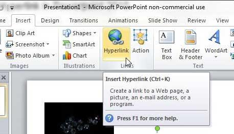 как сделать гиперссылку в PowerPoint 2010