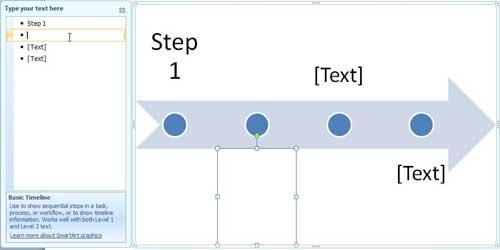 введите текст временной шкалы