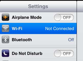 как подключиться к wifi на ipad 2