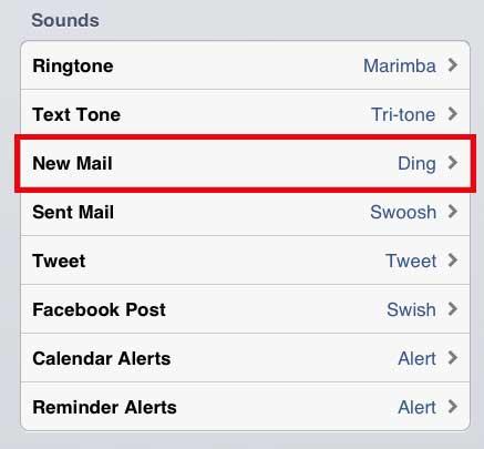 выберите новую почту в правой части экрана